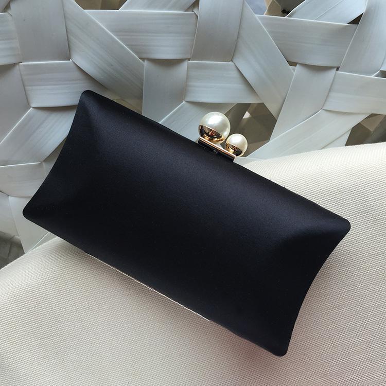 Жемчужина сцепления ручной работы для женщин Party Bag Pink Black Fashion Вечерняя невеста Свадебные сумки свадьбы Муфты Сумочка Женский кошелек TGWGS