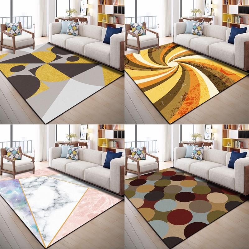 Rechteckiger Teppich Modernes Wohnzimmer Teppiche Simplicity Schlafzimmer Neue Tapis-Matte No Slip Multi Design 28 8WN4 K2