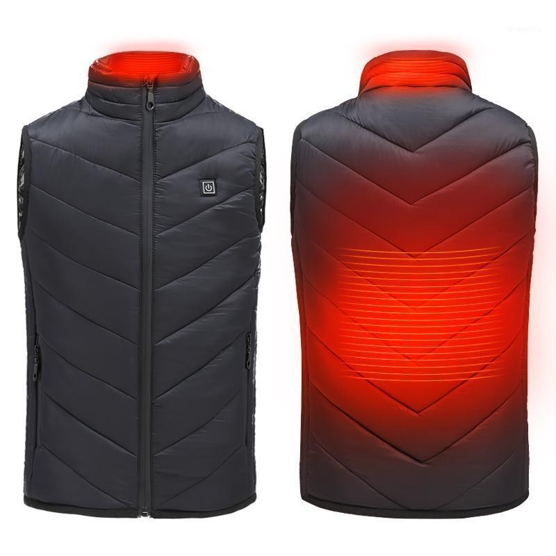 Veste chaude chauffée pour enfants Chargements USB Chauffage de coton gilet coupe-vent chaleureux Camping en plein air Couvertures électro-thermales1