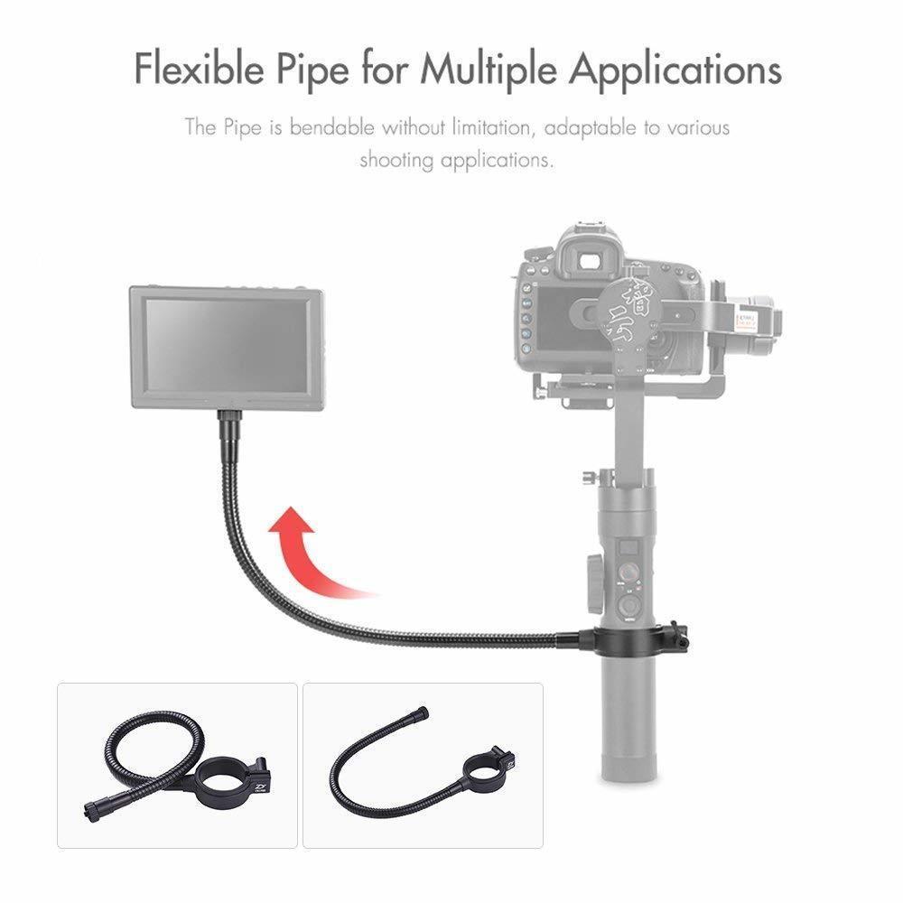 Zhiyun Guindaste 2 1/4 Tópico suporte de metal com tubulação flexível para tela do monitor, LED flash Luzes, câmeras Ação (400 mm)