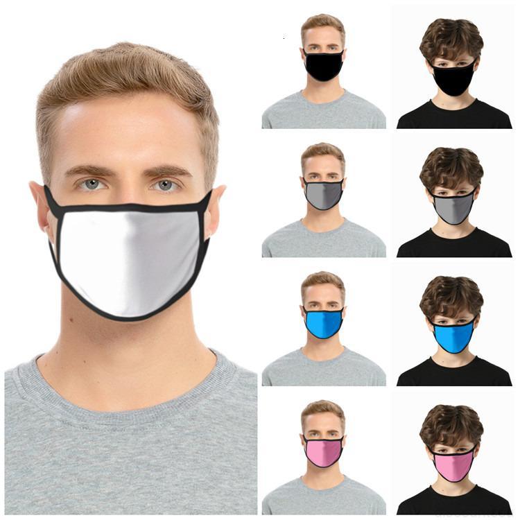 Waschbare Festfarbe Leerzeichen Staubmaske Schwarz Gesichtsmaske Cartoon Erwachsene Kinder Tuch Maske Earhaok Designer Masken T2I