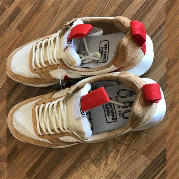Tom Sachs Craft Mars Yard Ts Nasa 2.0 Chaussures Naturel / Sport Rouge-Maple Unisexe Causal Chaussures 5.5-11