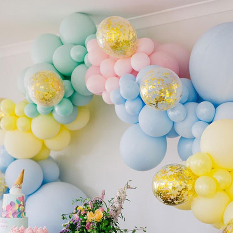 5/10/18 inç pastel Macaron Balonlar Düğün Doğum Günü Partisi Şeker Macaroon Balon Dekorasyon Balon Arch Malzemeleri Globos