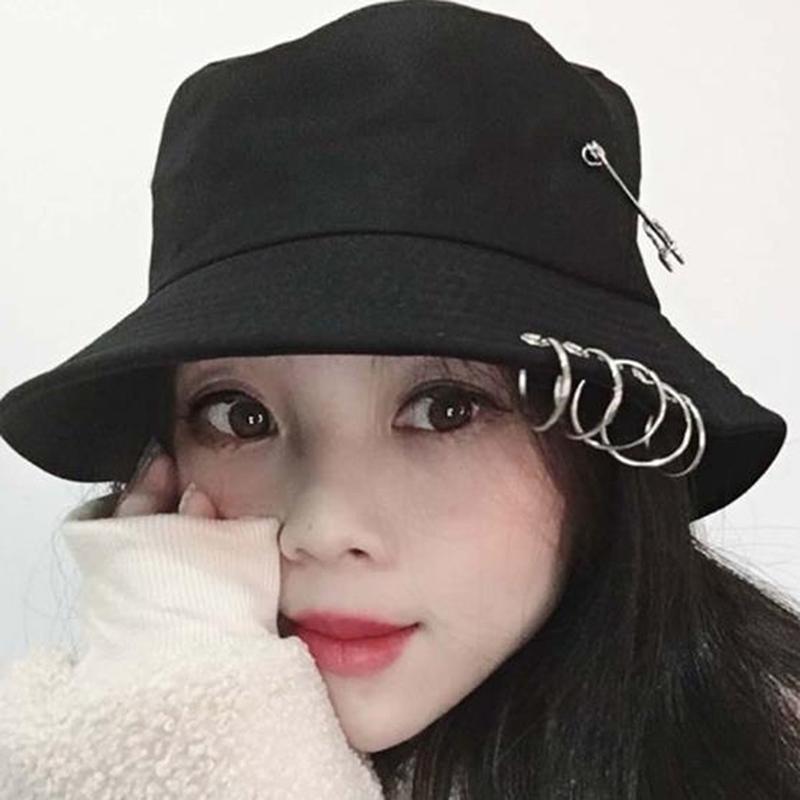 1pc Mode Unisexe Femmes Hommes Bonnet Bonnets Broches Sunhat Casquettes Été Couleur Solide Pêche Sun Chapeau 2 Couleurs