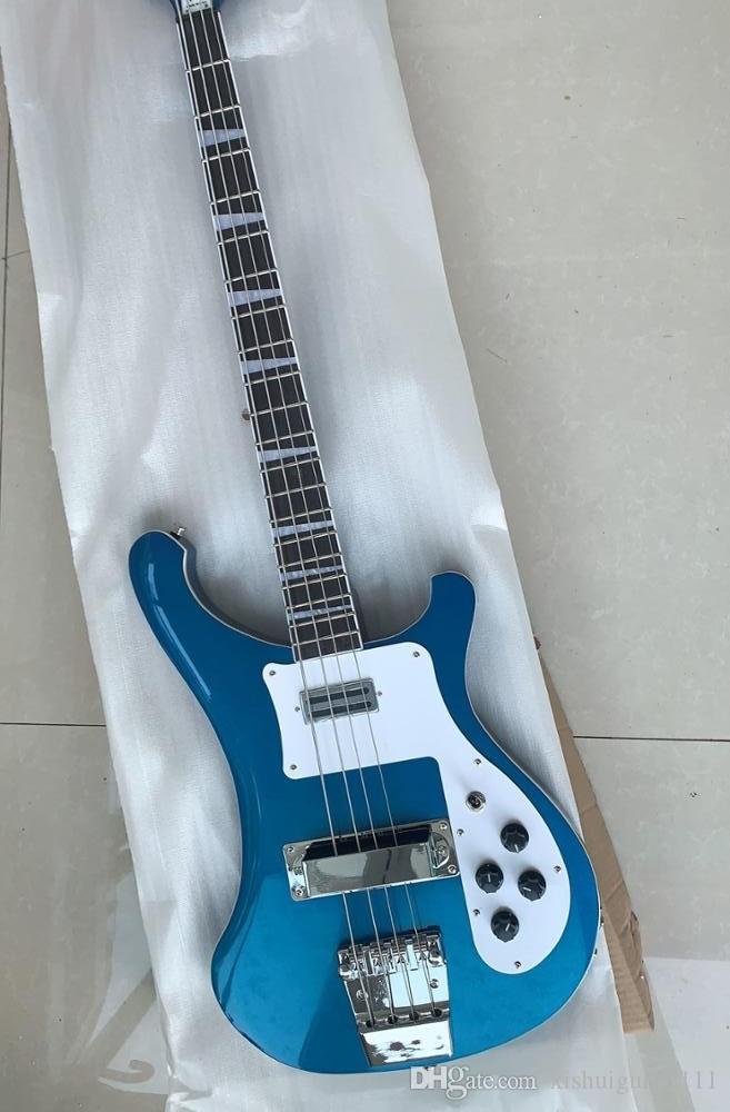 Großhandel kundenspezifischer blaue Metall 4003 Bass-Gitarre; durch Ahornhals; Kostenloser Versand