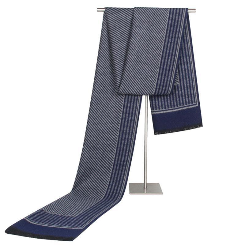 [AETRENDS] bufanda del invierno de los hombres de la cachemira bufandas siento por los hombres de la vendimia de las bufandas de rayas Diseño Echarpe Z-6656