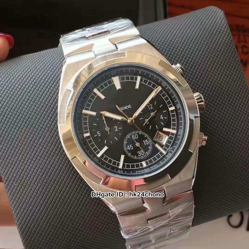 Nuevo 5500V / 110A-B481 Reloj automático de hombres en el extranjero 42 mm Dial negro Acero inoxidable Bracele Gents de alta calidad Relojes deportivos 8 estilos
