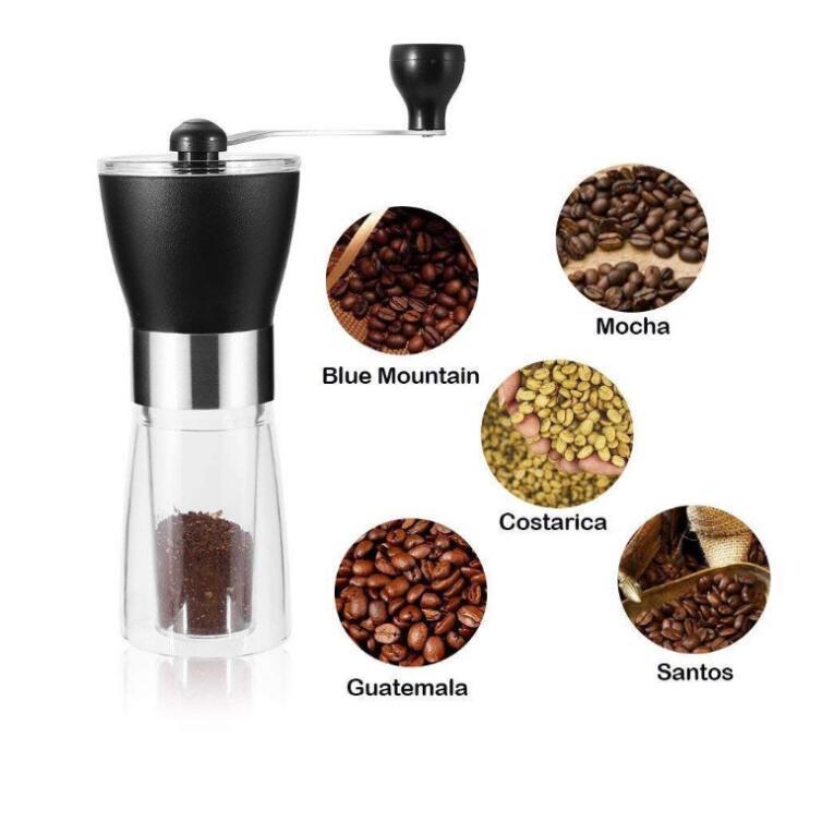 Кофейные шлифовальные машины Ручная керамическая кофемолка моющийся ABS керамический сервис из нержавеющей стали домашняя кухня мини-ручной кофе машина Coffe Sea CCC5228