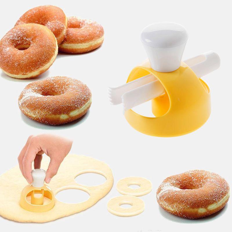 طعام الكعكة كعكة دونات العفن الحلويات المطبخ الخبز batisserie مخبز الخبز أدوات القاطع diy استنسل دونات صانع العفن