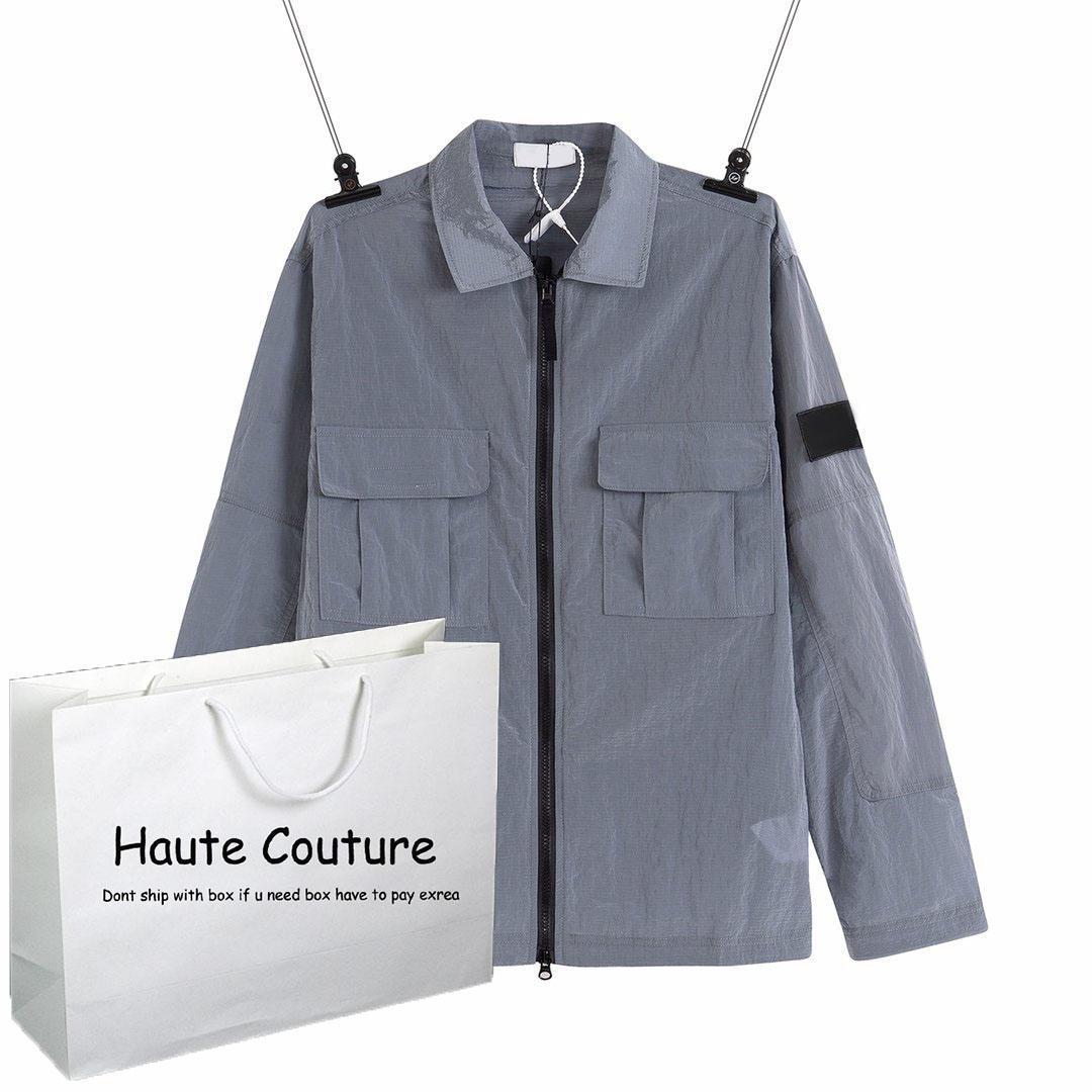 Mens Fashion Jacket Metallic Luster Tops 2020 Nouveau Automne Manteau mince Active Running Hiphop Streetwear Garçons Casual Sportwear