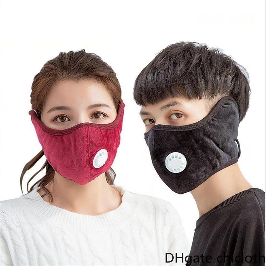 EU estoque quente rosto de máscara de rosto com pm2.5 moda grossa máscaras boca outdoor máscaras de algodão vida respiração inverno earflap capa mascara fy9267