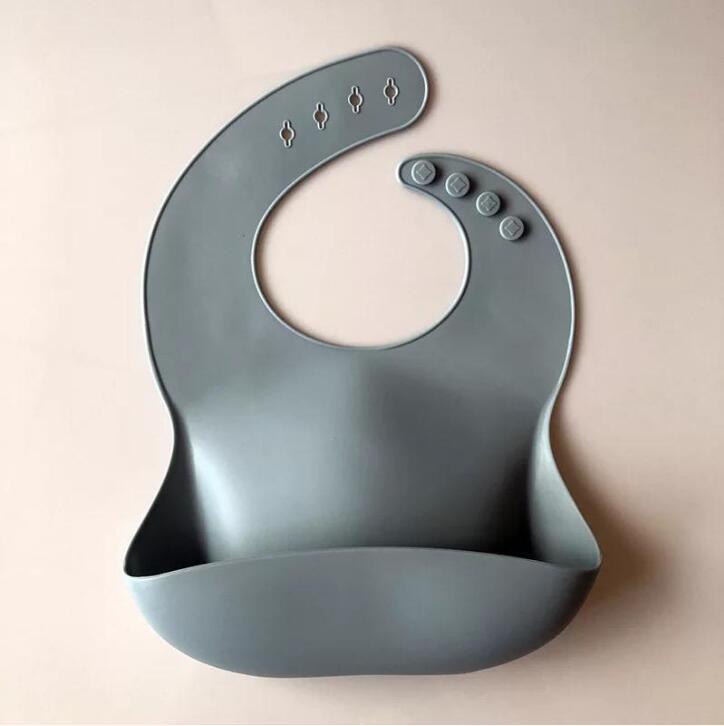 Bosouse en silicone Alimentation bébé Serviette Salive Solide Étanche Soft Soft Soft Bandana Léger Beavan Bes-Bustes Tabliers ajustables Tablier DDC5538