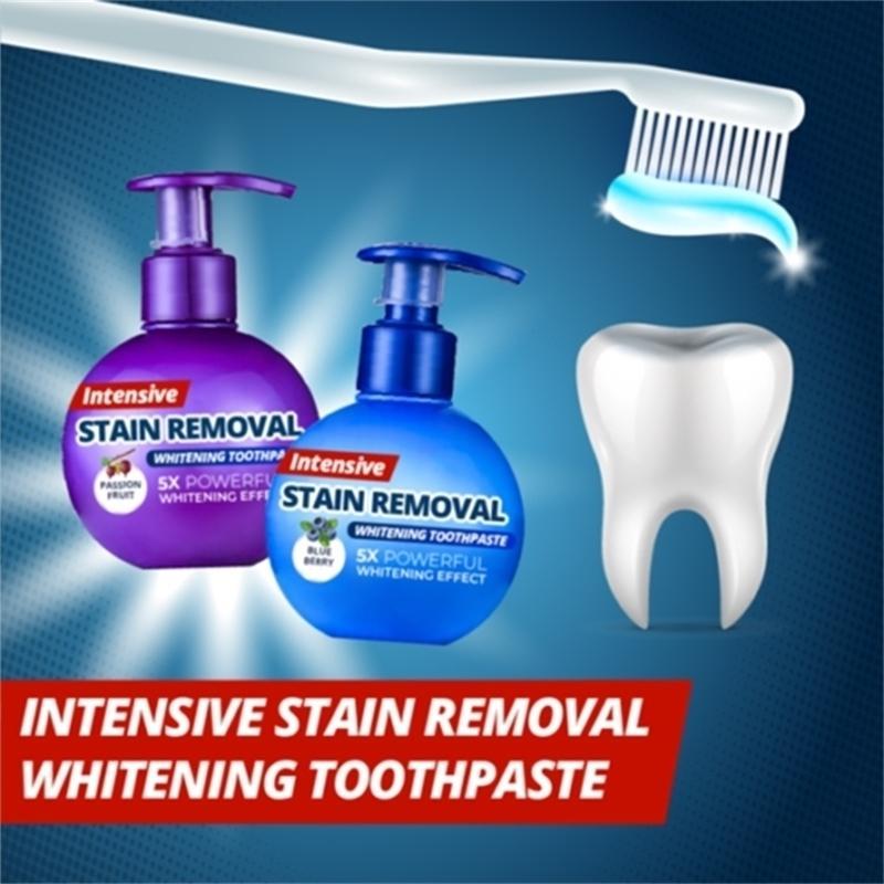 Интенсивное отбеливание пятно для удаления отбеливания зубной пасты против кровотечения для чистки зубов LBshipping 201214