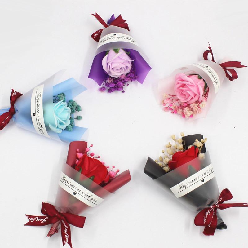 미니 크리스마스 발렌타인 데이 선물 말린 인공 꽃 가짜 gypsophila 꽃다발 크리 에이 티브 영원한 gypsophila 꽃다발 비누 꽃 vtky2166
