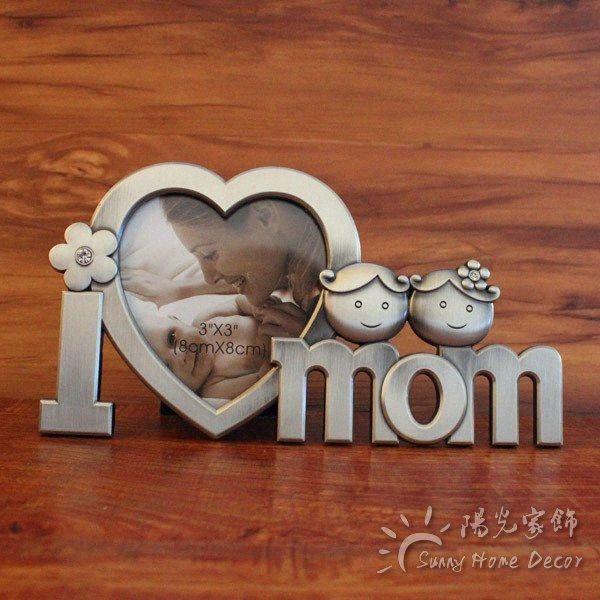 أنا أحب أمي أبي 3 على شكل قلب المعادن إطار الصورة سطح المكتب الديكور الحلي الرئيسية كرافت عائلة هدية مخصص صور المقبولة YcZA #