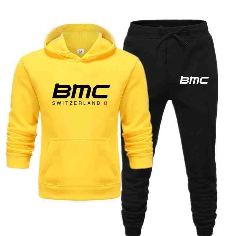 2020 BMC İsviçre Bisiklet Hoodie Sonbahar Kış Yuvarlak Boyun Hoodie ve Sweatpants erkek Artı Boyutu S-3XL C0929