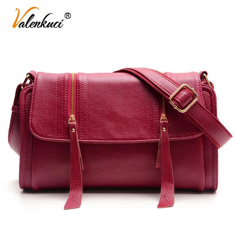Valenkuci Femmes sacs à main en cuir pour les femmes Sacs à bandoulière Messenger femmes Sacs en cuir Designer Vintage SD-380