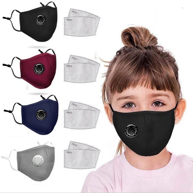 Valeur respiratoire visage anti-poussière avec lavement réglable réutilisable masque de protection masque de protection 2 filtres pour enfants