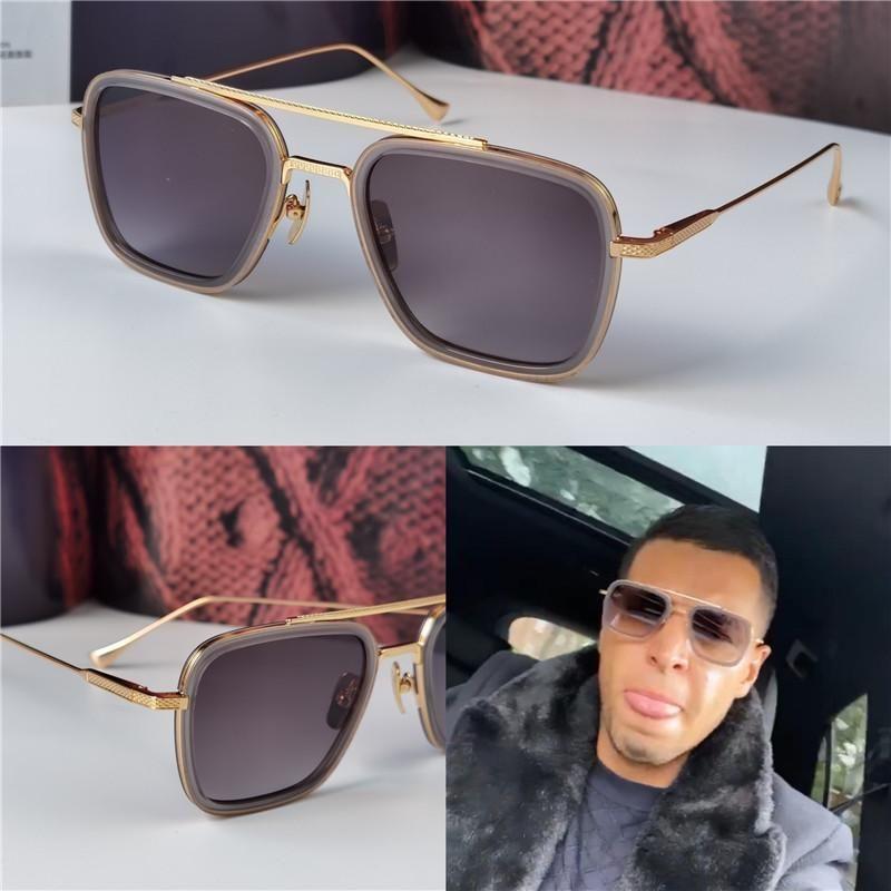 2021 novo design de moda homem óculos de sol 006 quadros quadrados vintage estilo popular uv 400 protetora eyewear ao ar livre