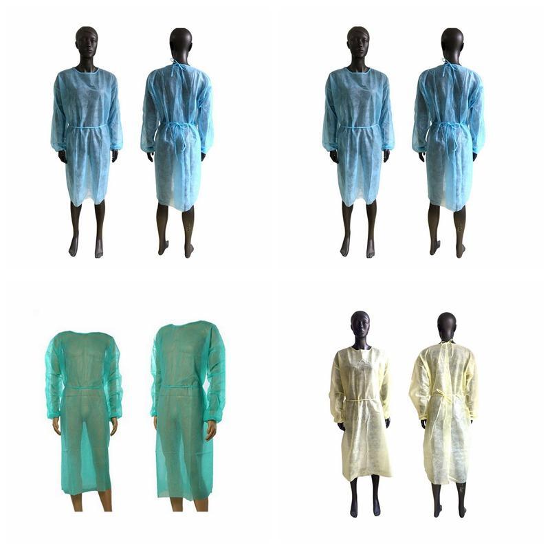 Non-tissé Vêtements de protection à usage unique Isolation Robes Vêtements Suits extérieur anti-poussière Ménage Raincoat CYZ2871 Sea Shipping