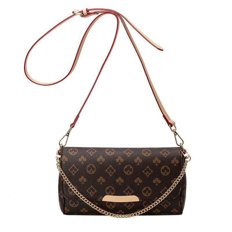 Новый стиль сумка с цепи печати Багет сумка для женщин 2020 Crossbody Сумки Роскошные дизайнерские Кошельки и сумки Женский C1009