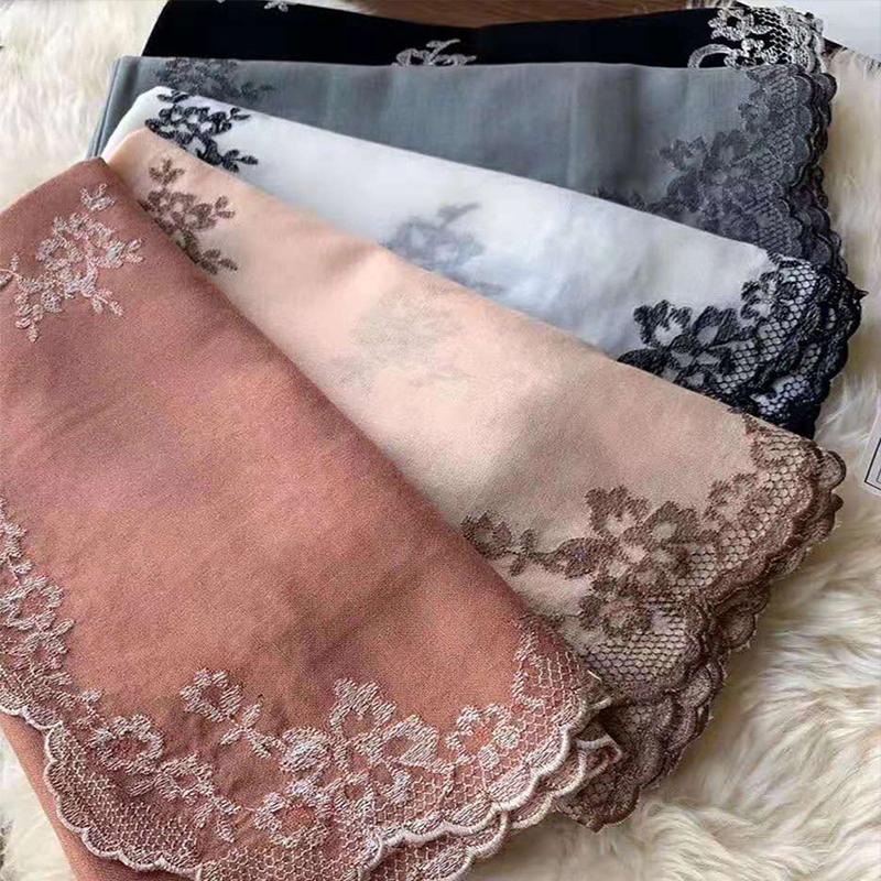 100% кашемир шарф способ женщин вышивка шнурок зима осень мягкие теплый кашемир шаль шарф Длинные Скарф