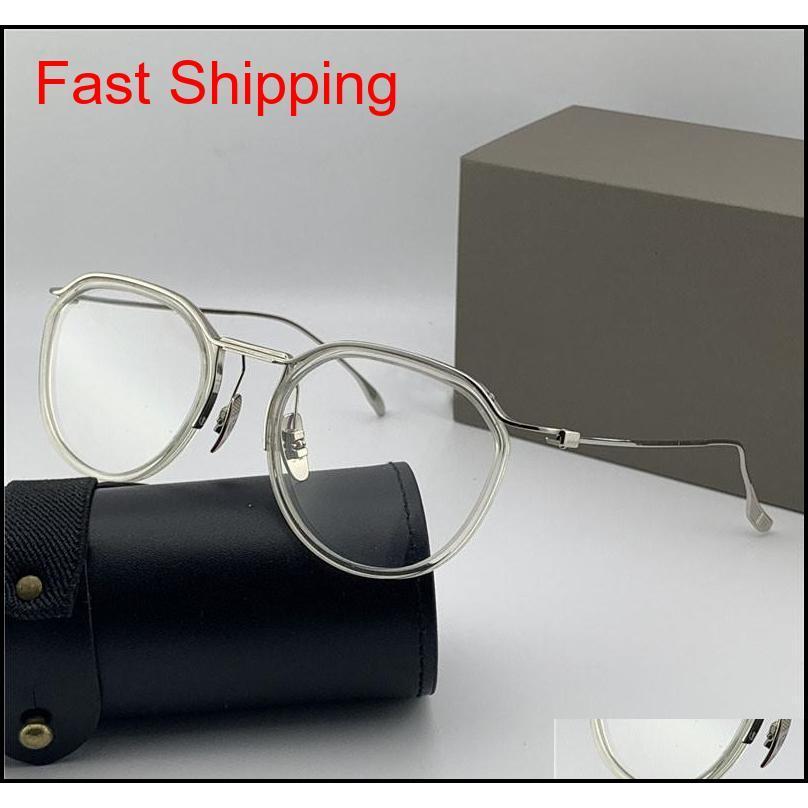 Moda Tasarım Optik Gözlük 131 Yuvarlak Retro K Altın Çerçeve Vintage Basit Stil Şeffaf Gözlük Üst QU QYLRFE HOMES2007