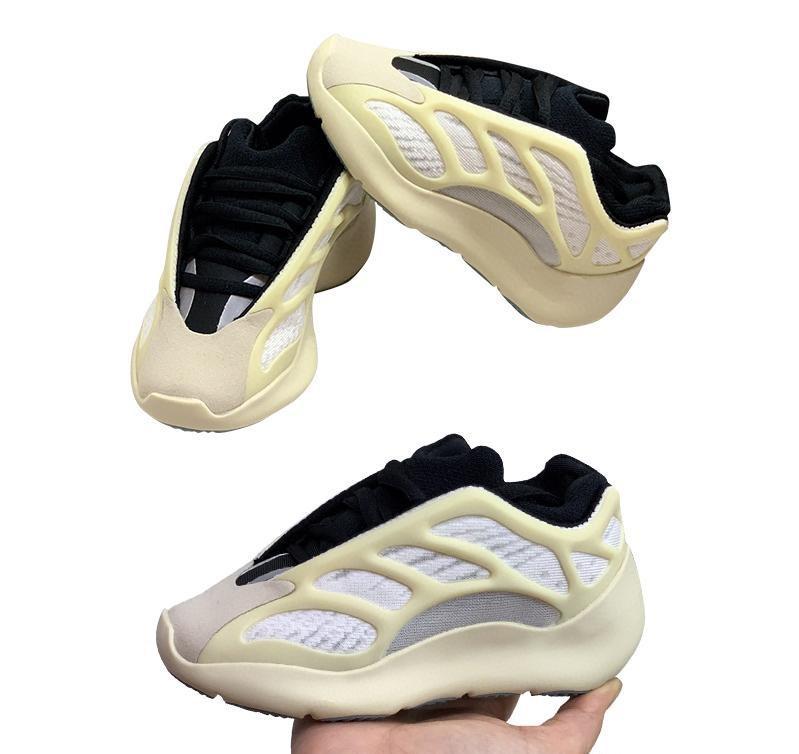 Zapatos Kanye West 700V3 jóvenes niños Azael Alvah Esqueleto las muchachas del muchacho Entrenadores zapatillas de deporte de los zapatos corrientes de los niños V3 tamaño de los zapatos 26-35