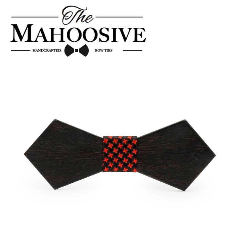 Mahoosive Massivholz Krawatte Herren Hochzeitsanzüge Holz Fliege