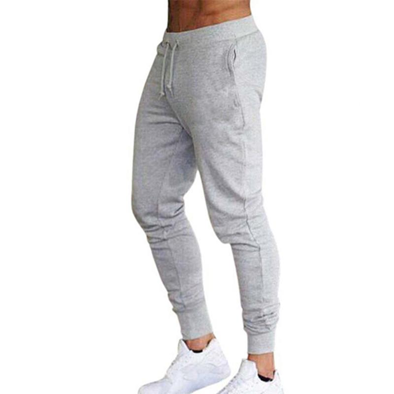 2020 повседневные брюки мужчины Joggers Sweatpants Solid Color Брюки Фитнес Спортивная Jogger Track Pant Плюс размер S-4XL Лето Весна C1011