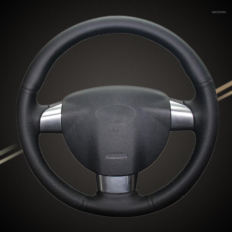 Trança de carro na capa do volante para foco 2 2005-2011 (3-raiva) Interior Car-Styling Auto Trança de Direção1
