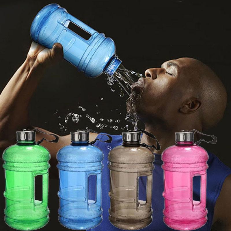 2.2L Capacidad de gran capacidad Botella de agua Deportes Gimnasio Entrenamiento Botella de agua Fitness Camping Corriente Jarra Contenedor Plástico Botellas de agua WX9-794