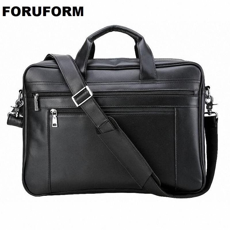 Männlicher Leder Aktentasche Leder 17 Laptoptasche Schulter Echte Männer Aktentasche Männer Tasche Handtaschen Multifunktions Männer Reise Inch Lmcru
