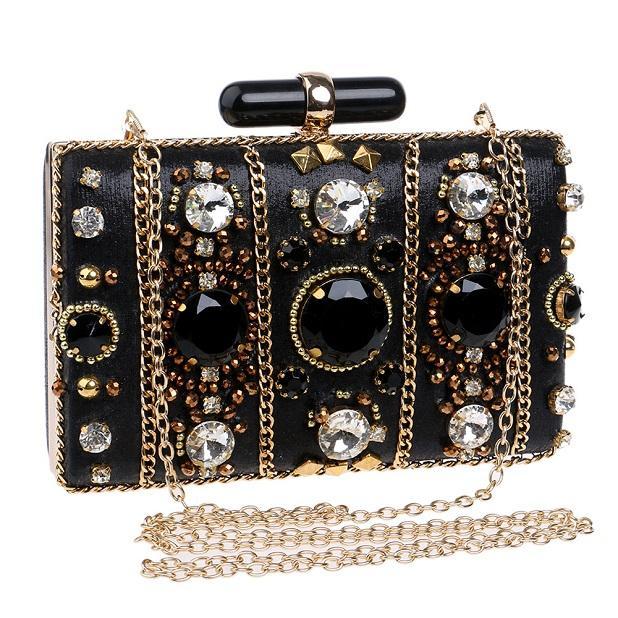 Mulheres Bolsa Bolsas de Ombro 2020 Bolsa Sparkly Beading Crystal Bag Shiny par embreagem Designer Diamante para a noite Luxurys saco de strass EKPC