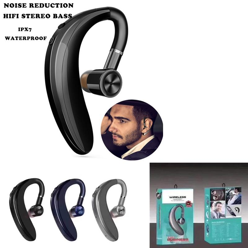 S109 High Match Wireless Bluetooth-Kopfhörer Einzelner Ohrhaken Geschäft Stereo Kopfhörer Headset Freisprecheinrichtung Sport Ohrhörer mit Mikrofon
