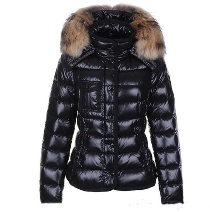 Womens Down Jacket Pelzkragen Winterjacke Parkas Mäntel Top Qualität Frauen Winter Casual Outdoor Warme Feder Outwear Mit Kapuze