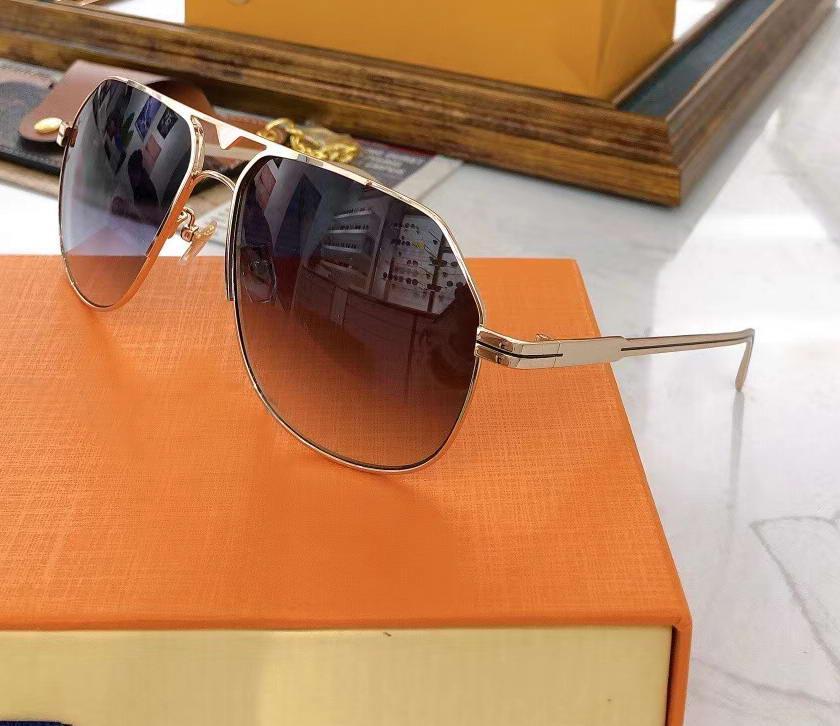 Мужчины квадратные пилотные солнцезащитные очки золотые металлические рамки серый градиент Gafa de sol uv400 защитные очки с корпусом