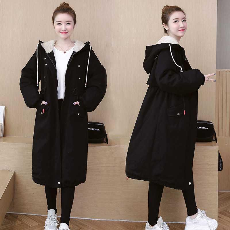 Большой 2020 женская зимняя одежда осенью новая стиль преодолевает мягкую одежду, хлопчатобумажную одежду, шерсть ягненка и увеличение