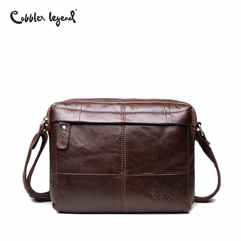 Cobbler Legend Business Herren Echtes Leder Umhängetasche für Männer Natürliche Kowskin Männer Tasche Vintage Handtasche Rindsleder Crossbody Tasche