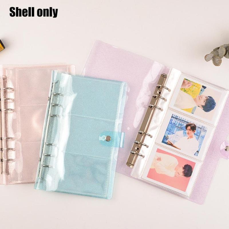 1pc Transparente Flojo Hoja NotBook Cover Book Binder Linda A6 PVC Note Reservar Color Journal Planner Office Supplies