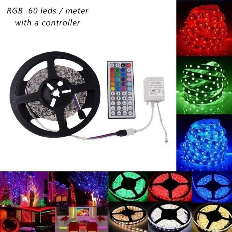 RGB 1m 3M 5m 10m 20m tv arka plan ışığı ekran diyot bant parti malzemeleri ile Led USB yumuşak