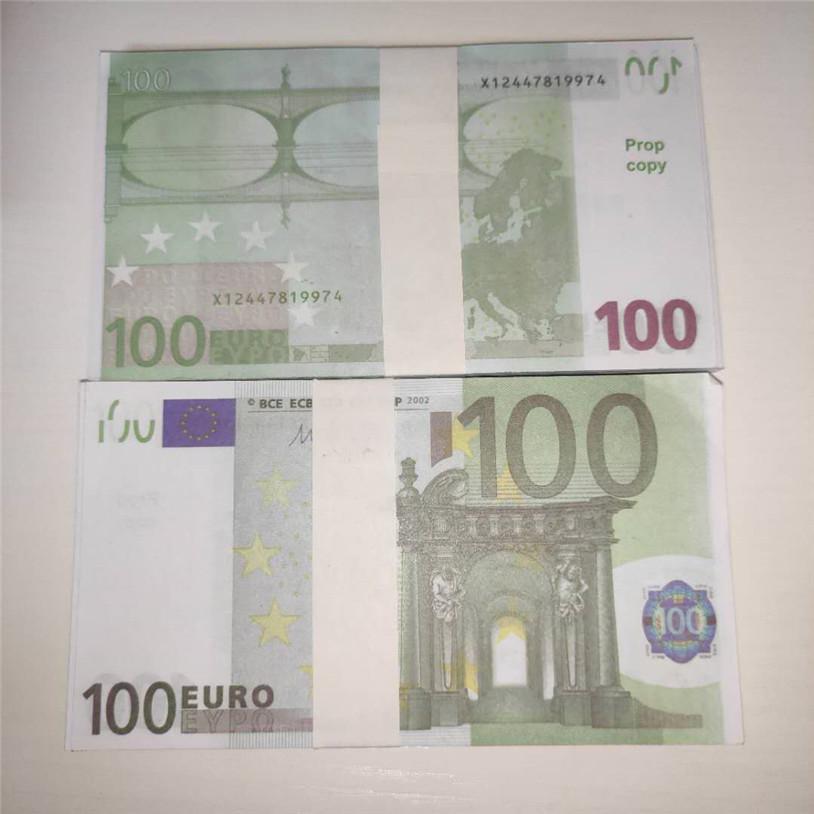 2020 Vente chaude 100 EUR Dollar Simulé Bills de billets de monnaie DIY accessoires Jeu Devise USD Jeu Props Devise A1