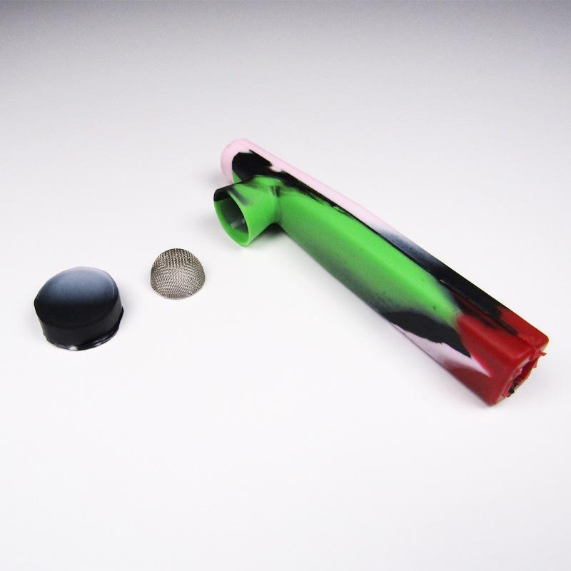 Pipes Silikonrohr Silikonrohr Europäische und amerikanische Stil Kontrastfarbe Umweltschutz Rohrhalter mit Abdeckung
