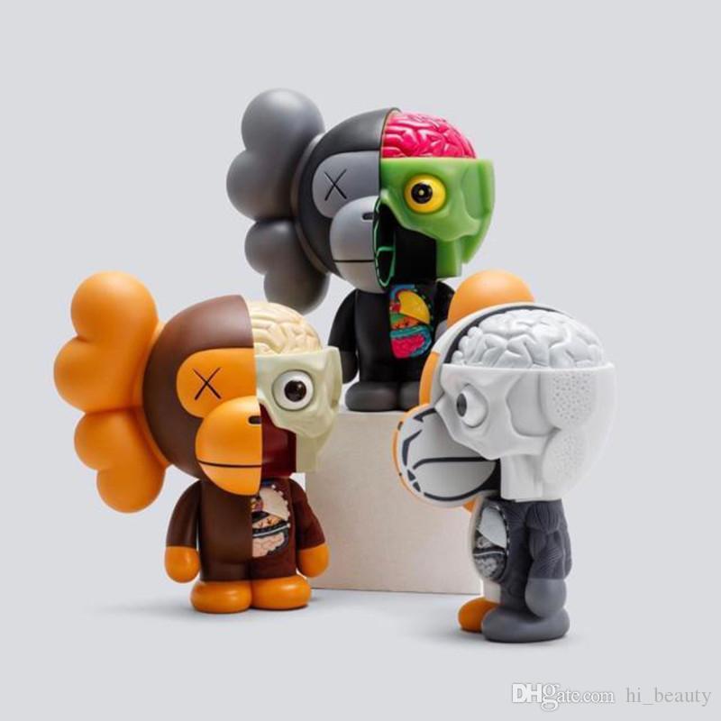 Hot Mandkaws 18 cm ornamento di moda scimmia mezza decorazione della bambola anatomia