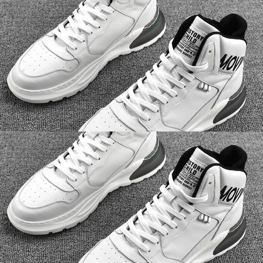Nouveau 2kZTy mi haut tout autour de la mode à l'automne et l'hiver 2020 sport rouge coréen en ligne en cuir Conseil hommes chaussures de sport occasionnels conseil lumière