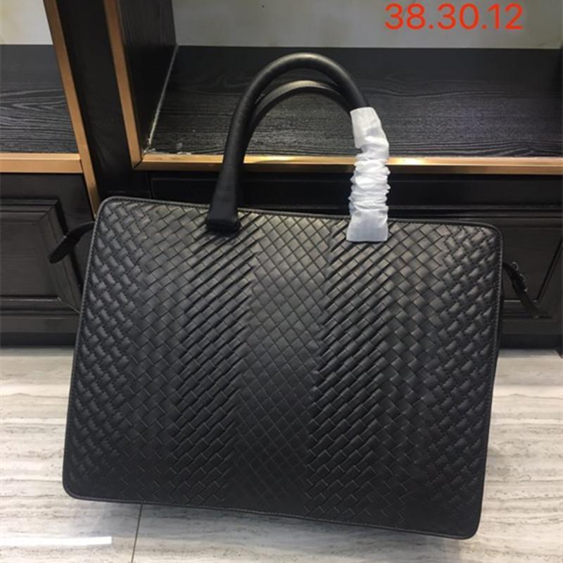 Новый шаблон мужская деловая сумка сумка сумка бизнес-дел роскошный дизайн компьютерный пакет натуральная кожа коровьей кожи lj201012