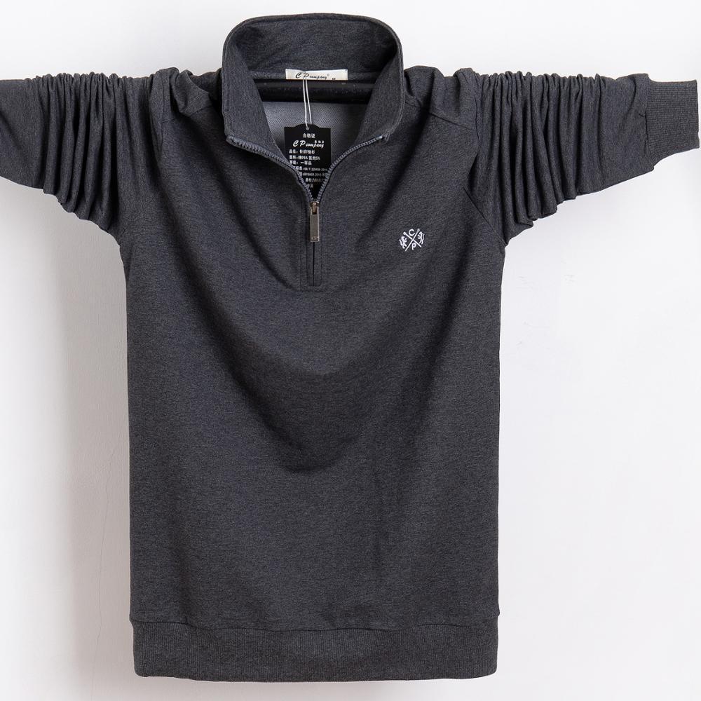 Футболка Мужчины Осень Зима Длинные футболки вышивки Дизайн футболки Slim Fit Сыпучие Casual Cotton T Shirt Мужчины Большой размер 5XL 6XL 201012