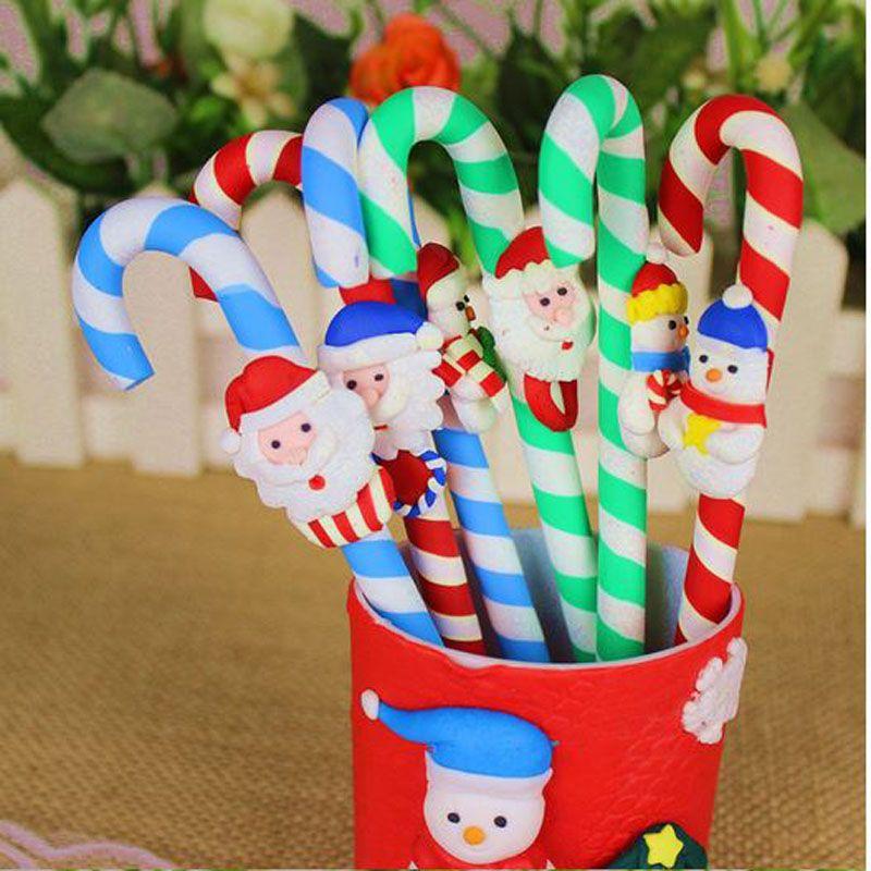 Snowman Noël mignon Snowman céramique stylo béquilles dessin animé Noël noël santa claus bureau école papeterie