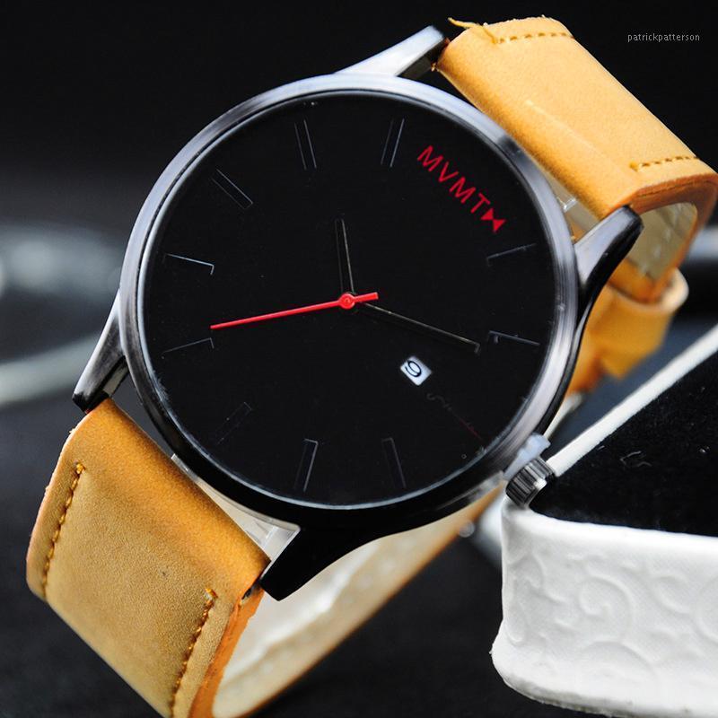 Bracelets Relogio Masculino 2021 Mode Big Com cadran Minimalisme Montre-bracelet Hommes Montre Cuir Business Quartz Calendrier Homme Male Clock1