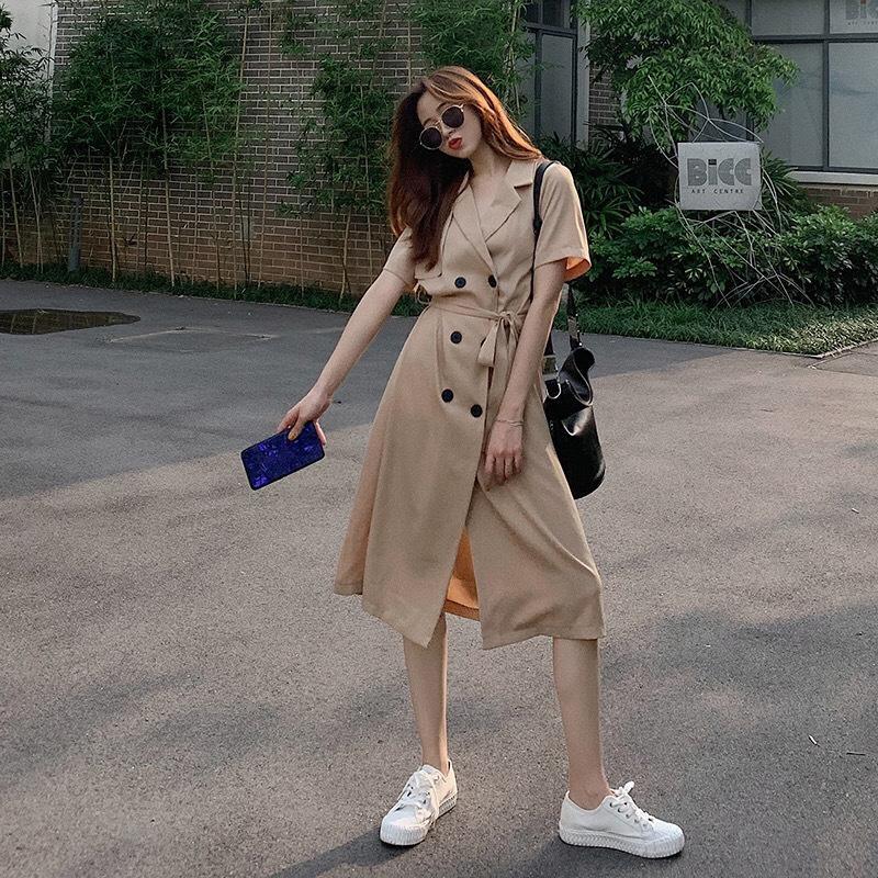 manga vestido estilo Hepburn comprimento médio pescoço quadrado bolha divisão lnF4g Magro manta costura pequena saia preta para o vestido mulheres moda Skirt